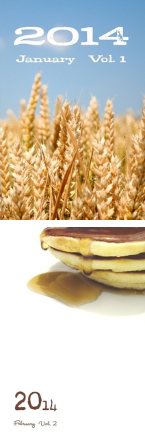 The Jan./Feb. cover art, wheat to pancakes!